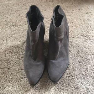 Size 8 dark gray booties